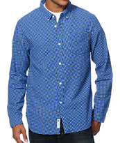 Undefeated Dot Navy Long Sleeve Button Up Shirt