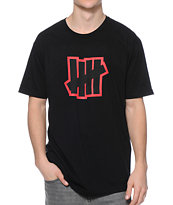 Undefeated Double 5 Strike Black Tee Shirt