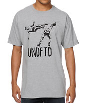 Undefeated Flying Kick Heather Grey Tee Shirt