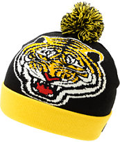 Undefeated Tiger Black & Yellow Pom Beanie