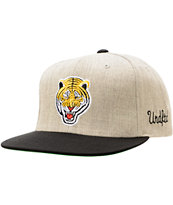 Undefeated Tiger Grey Snapback Hat