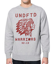 Undefeated Warriors Grey Crew Neck Sweatshirt