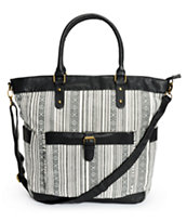 Under One Sky Black & White Aztec Print Tote Bag