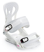 Union Flite White Women's 2014 Snowboard Bindings