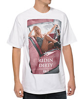 Unit Riding Dirty White Tee Shirt