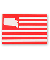 United State Of Indiana Flag Sticker
