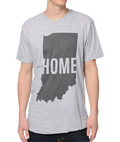 United State Of Indiana IN This Is Home Grey Tee Shirt
