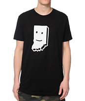 United State Of Indiana Smiling Black Tee Shirt