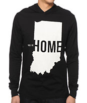 United State Of Indiana This Is Home Hooded Shirt