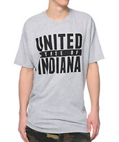 United State Of Indiana Tough Guy Grey T-Shirt