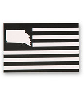 United States Of Indiana Flag Sticker