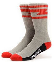 Us Versus Them Del Mar Grey Crew Socks