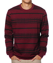 Valor Apache Maroon Fleece Crew Neck Sweatshirt