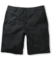 Valor Larson Charcoal Plaid Chino Shorts