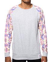 Vandal Filtered Floral Crew Neck Sweatshirt