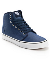 Vans 106 Hi Chambray Navy Skate Shoe