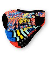 Vans 3 Pack Mardi Gras Canoodle No Show Socks