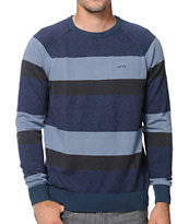 Vans Agnew Navy Stripe Crew Neck Sweater