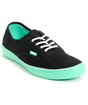 Vans Authentic Lite Black & Green Shoe