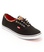 Vans Authentic Lo Pro Black & Leopard Print Shoe
