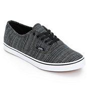 Vans Authentic Lo Pro Black Chambray Shoes