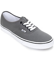 Vans Authentic Pewter and Black Skate Shoes