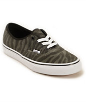 Vans Authentic Zebra Suede Shoes