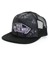 Vans Beach Girl Black Tie Dye Trucker Hat