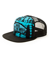 Vans Beach Girl Blue Tie Dye Trucker Hat