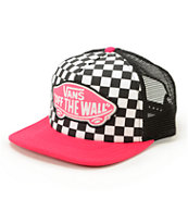 Vans Beach Girl Checker Trucker Hat
