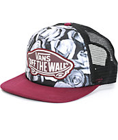 Vans Beach Girl Mono Digi Rose Trucker Hat