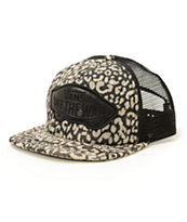 Vans Beach Girl Washed Leopard Trucker Hat