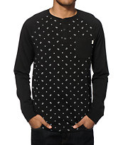 Vans Bering Paisley Long Sleeve Henley Pocket T-Shirt