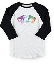Vans Boys Relapse Tie Dye Baseball T-Shirt