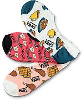Vans Brekki Canoodle Food 3 Pack Invisible Socks