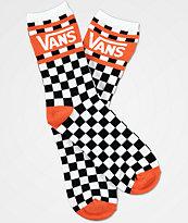 Vans Checker Orange & White Crew Socks