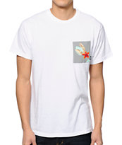 Vans Chima Print White Pocket Tee Shirt