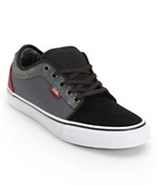 Vans Chukka Low Black, Dark Grey, & Burgundy Skate Shoe