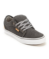Vans Chukka Low Black & Tan Tweed Skate Shoe