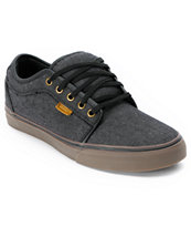 Vans Chukka Low Black Canvas & Gum Shoes