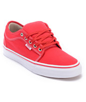Vans Chukka Low Red, Khaki & White Skate Shoe