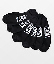 Vans Classic Super 3 Pack Black No Show Socks
