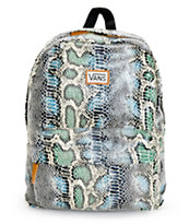 Vans Deana Blue Snake Print Backpack