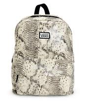 Vans Deana Gunmetal Snake Print Backpack