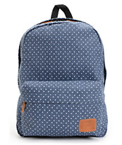 Vans Deana Polka Dot Print Blue Backpack