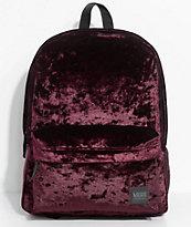 Vans Deanna II Burgundy Velvet 22L Backpack