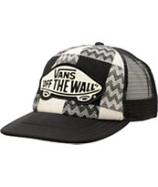 Vans Girls Attendance Cream & Black Trucker Hat