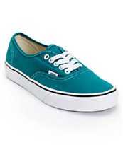 Vans Girls Authentic Deep Lake Teal Shoe