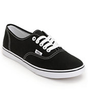 Vans Girls Authentic Lo Pro Black Shoe