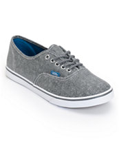 Vans Girls Authentic Lo Pro Castlerock Grey HB Print Shoe